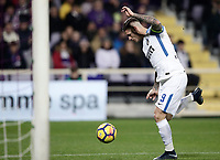 Calcio, Serie A: Fiorentina - Inter, stadio Artemio Franchi Firenze 5 gennaio 2018.<br /> Inter's Mauro Icardi is going to score during the Italian Serie A football match between Fiorentina and Inter Milan at Florence's Artemio Franchi stadium, January 5 2018.<br /> UPDATE IMAGES PRESS/Isabella Bonotto