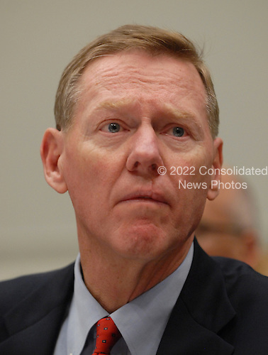 "Washington, DC - December 5, 2008 -- Alan Mulally, President and Chief Executive Officer, Ford Motor Company, appears at the United States House Financial Services Committee hearing ""On review of industry plans to stabilize the financial condition of the American automobile industry""  in Washington, D.C. on Friday, December 5, 2008.  He was there with other automotive industry leaders to request $35 billion in loans from Congress to insure their company's survival..Credit: Ron Sachs / CNP"