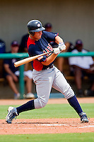 Shilo McCall #18 of AABC takes his swings against Dixie at the 2011 Tournament of Stars at the USA Baseball National Training Center on June 25, 2011 in Cary, North Carolina.  The AABC defeated Dixie 4-2.  (Brian Westerholt/Four Seam Images)