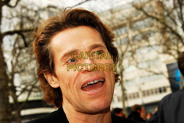 "WILLEM DAFOE.At the UK Film Premiere of ""Mr Bean's Holiday"", Odeon Leicester Square, London, UK..March 25th, 2007.headshot portrait mouth open funny face.CAP/IA.©Ian Allis/Capital Pictures"