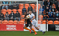Mauro Vilhete of Barnet & Luke O'Nien of Wycombe Wanderers during the Sky Bet League 2 match between Barnet and Wycombe Wanderers at The Hive, London, England on 17 April 2017. Photo by Andy Rowland.
