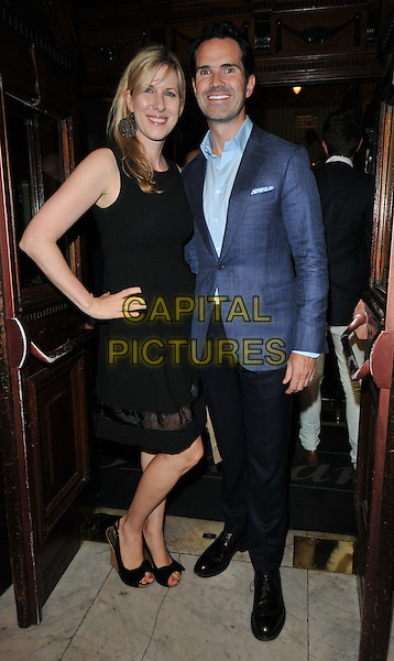 LONDON, ENGLAND - JULY 13: Karoline Copping &amp; Jimmy Carr attend the &quot;The Mentalists&quot; press night, Wyndham's Theatre, Charing Cross Rd., on Monday July 13, 2015 in London, England, UK.                                                                                                                                                                                                                                                                                                                                                                                                                                                                                                                                                                                                                                                                                                                                                                                                                                                                                                                                                                                                                                                                                                                                                                                                     <br /> CAP/CAN<br /> &copy;Can Nguyen/Capital Pictures