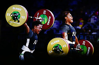 Apolonia Vaivai of Fiji wins bronze in the Women's 69kg Final. Gold Coast 2018 Commonwealth Games, Weightlifting, Gold Coast, Australia. 8 April 2018 © Copyright Photo: Anthony Au-Yeung / www.photosport.nz