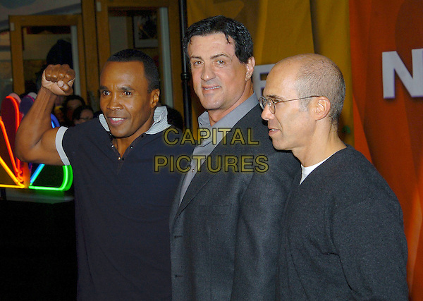 SUGAR RAY LEONARD, SYLVESTER STALLONE & JEFFREY KATZENBERG.2005 NBC Winter TCA All-Star Party held at the Hard Rock Cafe, Universal City, California, USA, .21 January 2005..half length sly.Ref: ADM.www.capitalpictures.com.sales@capitalpictures.com.©JWong/AdMedia/Capital Pictures .