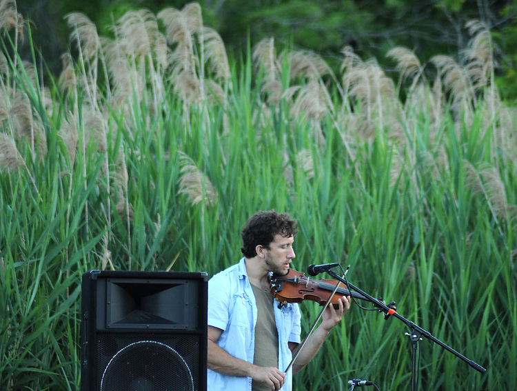 Charlie Schikowitz, of Mamalama, performing at Saugerties Sunset Concert at Glasco Mini Park, NY on Friday, July 1, 2011. Photo © Jim Peppler 2011.