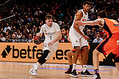 25th March 2018, Madrid, Spain; Endesa Basketball League, Real Madrid versus Valencia; Luka Doncic (Real Madrid Baloncesto) brings the ball foward
