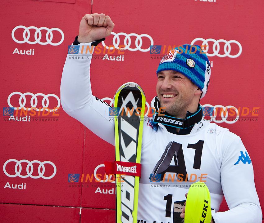 Cristian Deville Italia, primo classificato.22.01.2012, Kitzbuehel, AUSTRIA .FIS Coppa del Mondo Sci Alpino Slalom Speciale.Foto Insidefoto / EXPA/ Markus Casna