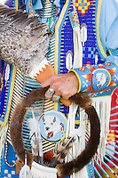 Seneca Native American Indian hand, in full Regalia, New Jersey
