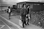 Sullom Voe 1970s Shetland Islands Scotland construction of oil industry site for BP British Petroleum to take North Sea oil. 1979.  Construction workers housing site.