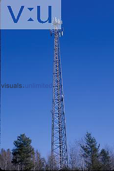 A cell phone tower, self supporting no wires.