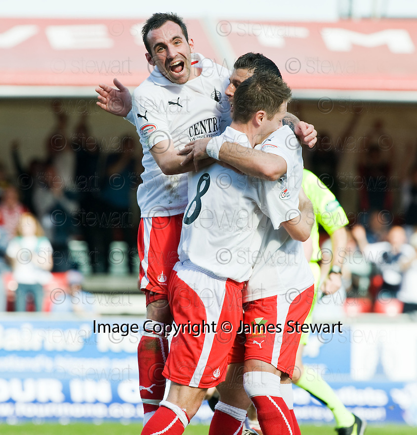 10/04/2010   Copyright  Pic : James Stewart.sct_jsp05_falkirk_v_st_mirren  .::  PEDRO MOUTINHO IS CONGRATULEATED BY MARK STEWART  AND BURTON O'BRIEN AFTER HE SCORES FALKIRK'S FIRST ::  .James Stewart Photography 19 Carronlea Drive, Falkirk. FK2 8DN      Vat Reg No. 607 6932 25.Telephone      : +44 (0)1324 570291 .Mobile              : +44 (0)7721 416997.E-mail  :  jim@jspa.co.uk.If you require further information then contact Jim Stewart on any of the numbers above.........