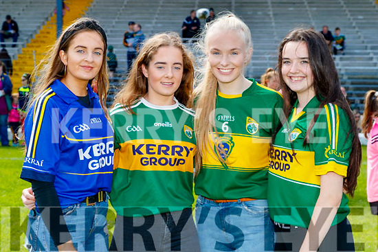 Eilish and Emma Cotter (Duagh) with Aoife Lane (Brosna) and Sarah Cahill (Duagh), attending the Kerry Team Open Day Meet and Greet, at Fitzgerald Stadium, Killarney on Saturday last.