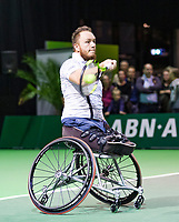 Rotterdam, The Netherlands, 14 Februari 2019, ABNAMRO World Tennis Tournament, Ahoy, Wheelchair final doubles, Nicolas Peifer(FRA),<br /> Photo: www.tennisimages.com/Henk Koster