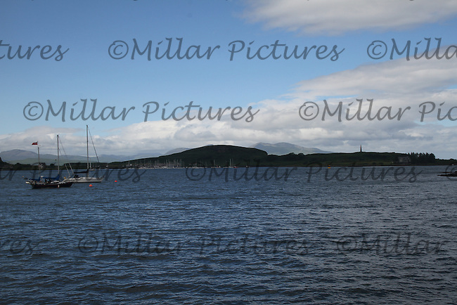 General view of Oban Harbour, Argyll & Bute with Kerrera in the background.
