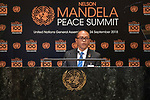 Opening Plenary Meeting of the Nelson Mandela Peace Summit<br /> <br />  His Excellency Dionisio BABO SOARESMinister for Foreign Affairs and Cooperation of Timor-Leste