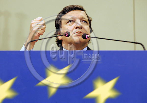 BRUSSELS - BELGIUM - 21 SEPTEMBER 2005 -- Jose Manuel BARROSO the President of the EU-Commission during his press conference on the outcome of the seminar of the Commission held on the 20.9.2005.--  PHOTO: JUHA ROININEN / EUP-IMAGES