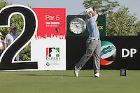 David Horsey teeing off on the second.on day one of the Dubai World Championship on the Earth Course at the Jumeirah Golf Estate, Dubai..Picture Fran Caffrey/www.golffile.ie.