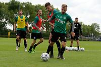 GRONINGEN - Voetbal, Eerste training FC Groningen, Corpus den Hoorn, seizoen 2019-2020, 22-06-2019, FC Groningen speler Ajdin Hrustic en FC Groningen speler Michael Breij