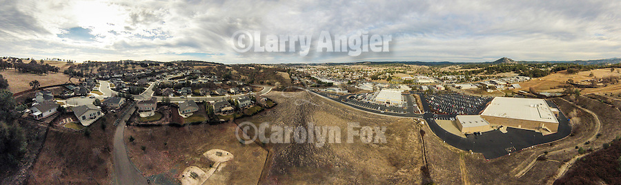 South Jackson aerial panorama, Amador Couty, Calif.