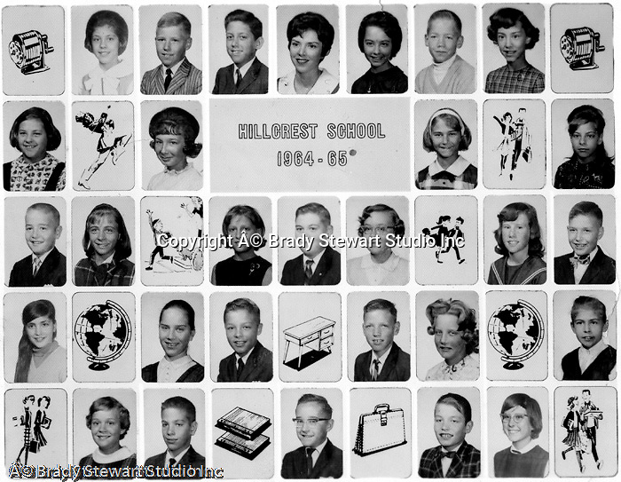 Bethel Park PA:  5th Grade Class at Hillcrest Elementary School on Bethel Church Road - 1964-65.  Miss Crandell was our teacher.  I am struggling with remembering the names... from bottom up; Mike Stewart, Jeff Sweet, Mike Tarbet, Cathy Shoemaker, Steven Stewart, Tom Tomkins
