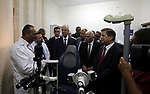 Palestinian Prime Minister Rami Hamdallah opens departments in Hebron hospitals, in the West Bank city of Hebron, on Aug. 01, 2018. Photo by Prime Minister Office