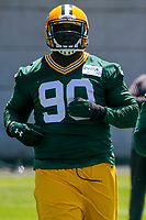 Green Bay Packers defensive tackle Montravius Adams (90) during an OTA on June 1, 2017 at Clark Hinkle Field in Green Bay, Wisconsin. (Brad Krause/Krause Sports Photography)