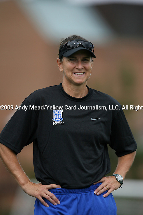 28 August 2009: Duke assistant coach Carla Overbeck. The Duke University Blue Devils lost 3-2 to the University of Central Florida Knights at Fetzer Field in Chapel Hill, North Carolina in an NCAA Division I Women's college soccer game.
