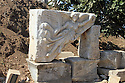 Marble relief of Aphrodite in Aphrodisias, Turkey.
