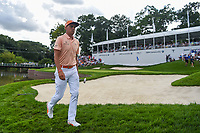 Rickie Fowler (USA) heads for the tee on 18 during Rd4 of the 2019 BMW Championship, Medinah Golf Club, Chicago, Illinois, USA. 8/18/2019.<br /> Picture Ken Murray / Golffile.ie<br /> <br /> All photo usage must carry mandatory copyright credit (© Golffile | Ken Murray)