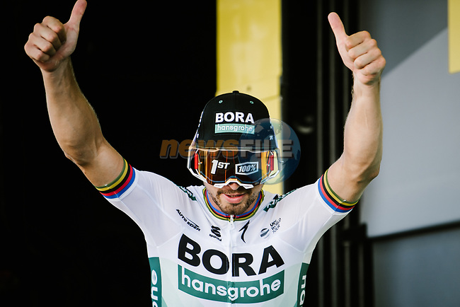 Peter Sagan (SVK) Bora-Hansgrohe wins Stage 5 of the 2019 Tour de France running 175.5km from Saint-Die-des-Vosges to Colmar, France. 10th July 2019.<br /> Picture: ASO/Pauline Ballet | Cyclefile<br /> All photos usage must carry mandatory copyright credit (© Cyclefile | ASO/Pauline Ballet)