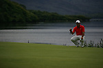 Francesco Molinari lines up his putt on the forth green on the final day of the 3 Irish Open, at the Killarney Golf and Fishing Club, Killarney, Ireland.Picture Fran Caffrey/www.golffile.ie.