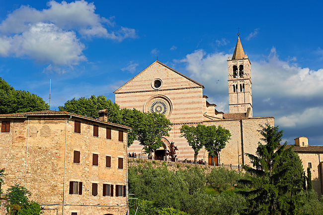 The Basilica of Saint Clare (Basilica di Santa Chiara), Assisi Italy