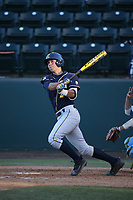 Anthony Walters (2) of the California Bears bats against the UCLA Bruins at Jackie Robinson Stadium on March 25, 2017 in Los Angeles, California. UCLA defeated California, 9-4. (Larry Goren/Four Seam Images)