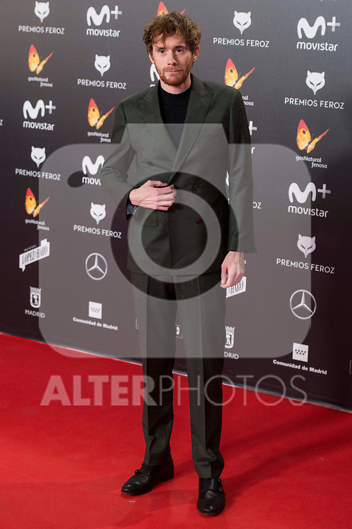 Daniel Perez Prada attends red carpet of Feroz Awards 2018 at Magarinos Complex in Madrid, Spain. January 22, 2018. (ALTERPHOTOS/Borja B.Hojas)
