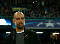 Pep Guardiola during the Champions League Group  soccer match between SSC Napoli - Manchester City   at the Stadio San Paolo in Naples 01 nov 2017