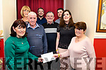 Pictured presenting the cheque from the Siobhan Mather fundraiser  in The Manor Inn, Killorglin last Saturday<br /> Back L-R: Catriona Breen, Billy Russell &amp; Kieran Murphy<br /> Middle L-R: David Murphy, Patsy Murphy &amp; Juliet Russell<br /> Front: L-R Theresa Murphy &amp; Bridget Murphy.