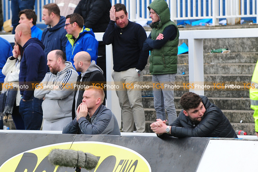 Dejected Hartlepool United fans after Hartlepool United are relegated to the conference during Hartlepool United vs Doncaster Rovers, Sky Bet EFL League 2 Football at Victoria Park on 6th May 2017