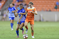 Houston, TX - Saturday July 22, 2017: Margaret Purce and Morgan Brian during a regular season National Women's Soccer League (NWSL) match between the Houston Dash and the Boston Breakers at BBVA Compass Stadium.