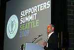 21 November 2009: Major League Soccer commissioner Don Garber. The MLS Supporters Summit was held in a club room at Qwest Field in Seattle, Washington one day before Major League Soccer's championship game, MLS Cup 2009, the following day.