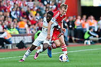 Sun 06 October 2013 Pictured: Nathan Dyer and James Ward-Prowse Re: Barclays Premier League Southampton FC  v Swansea City FC  at St.Mary's Stadium, Southampton