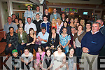 BIRTHDAY: Michael Brosnan Currow (seated 4th from left) celebrated his 50th Birthday in O'Riada's bar & Restaurant, on Friday night with family and friends..... ..........