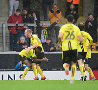 Burton Albion's Lucas Akins, left, celebrates scoring his side's third goal with team-mate Liam Boyce<br /> <br /> Photographer Chris Vaughan/CameraSport<br /> <br /> The EFL Sky Bet League One - Burton Albion v Blackpool - Saturday 16th March 2019 - Pirelli Stadium - Burton upon Trent<br /> <br /> World Copyright &copy; 2019 CameraSport. All rights reserved. 43 Linden Ave. Countesthorpe. Leicester. England. LE8 5PG - Tel: +44 (0) 116 277 4147 - admin@camerasport.com - www.camerasport.com