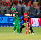 3rd February 2019, Optus Stadium, Perth, Australia; Australian Big Bash Cricket League, Perth Scorchers versus Melbourne Stars; Glenn Maxwell of the Melbourne Stars plays to the leg side during his innings