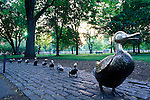 N.A., USA, Massachussetts, Boston, Public Garden, Make Way for Ducklings