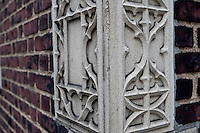 Terracotta styling architectural detail are shown is seen on a Brooklyn Heights apartment, NY, Monday August 1, 2011.