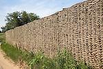 Woven wicker fence