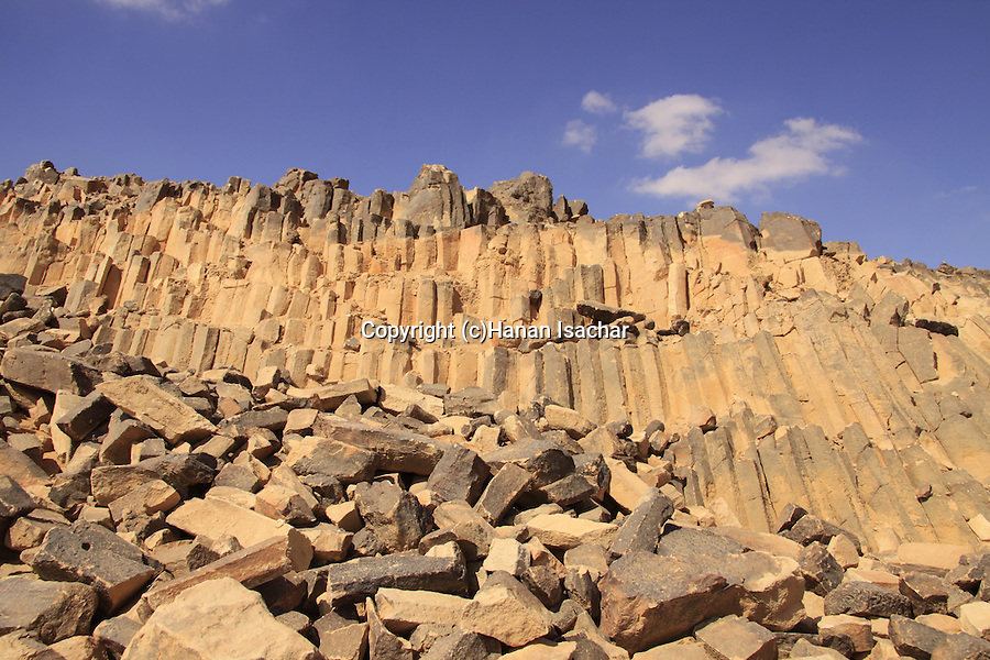 Israel, Negev, rocks at Haminsara (the Carpentry) Hill in Ramon Crater