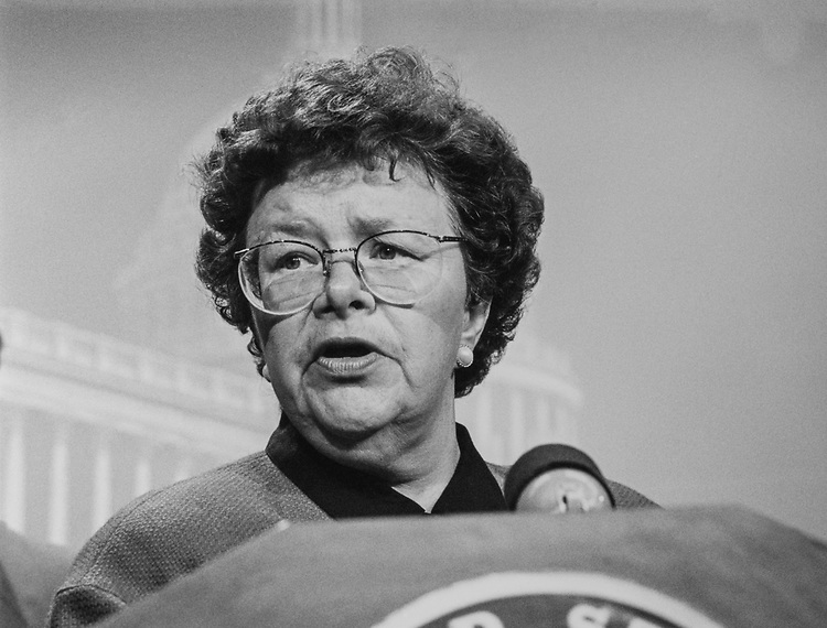 Sen. Barbara Mikulski, D-Md., in February 1993. (Photo by Laura Patterson/CQ Roll Call via Getty Images)