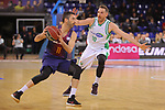League ACB-ENDESA 2017/2018 - Game: 27.<br /> FC Barcelona Lassa vs Real Betis Energia Plus: 121-56.<br /> Juan Carlos Navarro vs Txemi Urtasun.