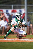 Eastern Michigan Eagles catcher Robert Iacobelli (49) during a game against the Dartmouth Big Green on February 25, 2017 at North Charlotte Regional Park in Port Charlotte, Florida.  Dartmouth defeated Eastern Michigan 8-4.  (Mike Janes/Four Seam Images)